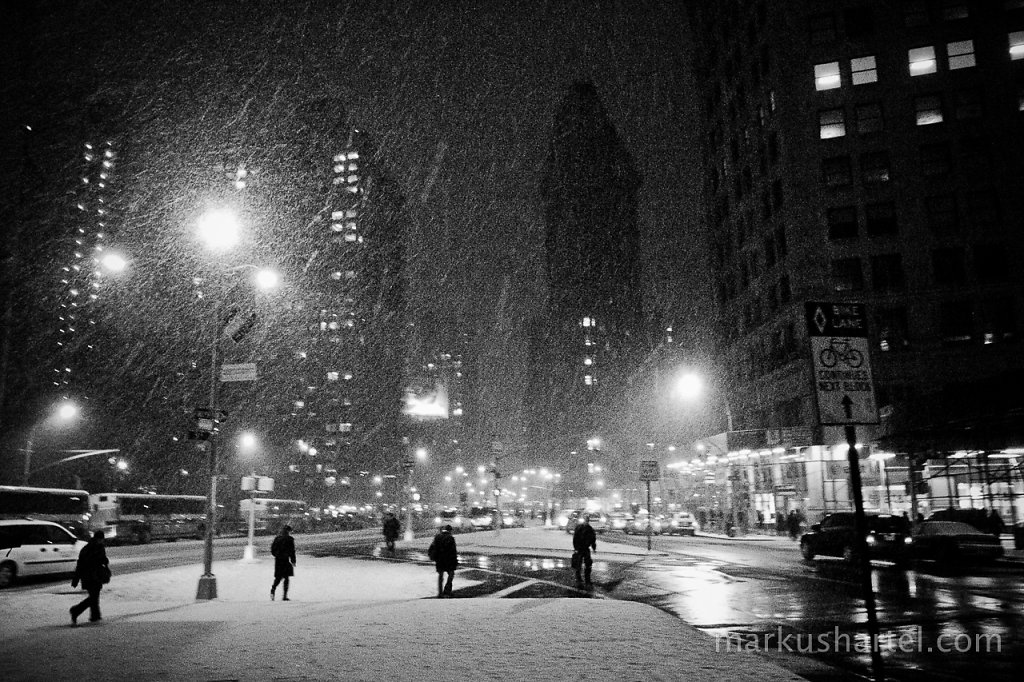 Flatiron Blizzard Night