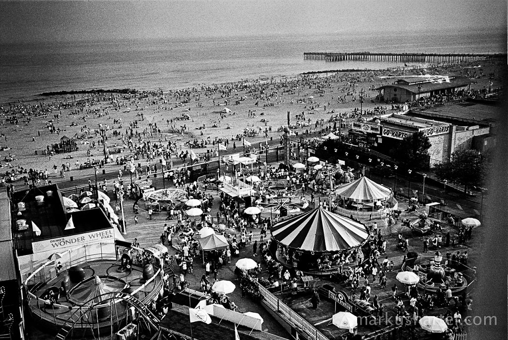 Coney Island Beach and Astroland from WonderWeel